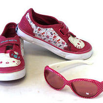 Infant Toddler Girl Keds Hello Kitty Shoes Size 7.5 M  Sunglasses Photo