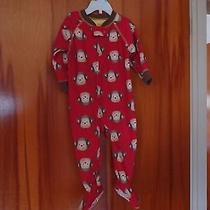 Infant Winter Pajamas Monkey Design Photo