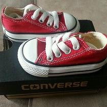 Infants Converse All Star Chuck Taylor Low Top. Size 2 Photo