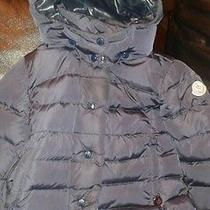 Infants Girl Blue Moncler Coat  Photo