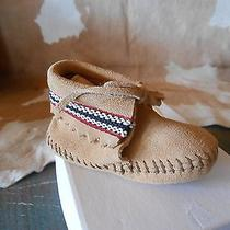 Infants Minnetonka Moccasin With Tie and Braid Size 1 Photo
