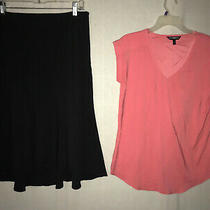 Ingredients Black Skirt Size 10 and  Express Shirt Photo