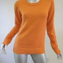 Inhabit Orange Cashmere Sweater L Photo