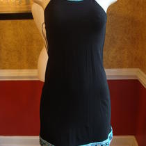 International Concepts Black T-Back Dress W/big Mirror Sequins-Pp Photo