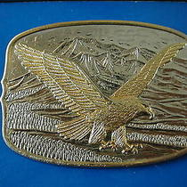 International Monetary Mint 200th American Eagle Belt Buckle in Box Silver Gold Photo