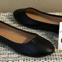 International Thread Everly Womens Black Round Toe Ballet Flats Size 8.5  Nwt Photo