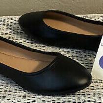 International Thread Everly Womens Black Round Toe Ballet Flats Size 8 Nwt Photo