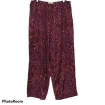 Intimates Lane Bryant Purple Gold Paisley Pajama Lounge Pants Polyester 18/20 Photo