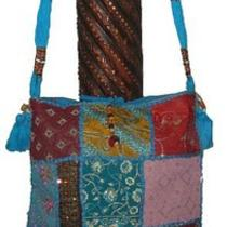 Intricate Embroidery and Bedded Work Alternate Jhola Style Shoulder Bag. Photo