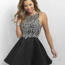 Intrigue by Blush Prom Dress Black Size 0 Nwt Photo