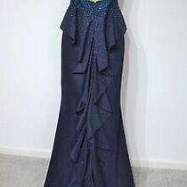 Intrigue by Blush Prom Dress Navy Sparkle Ball Mermaid Size 4 Photo