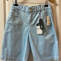 Intro Bermuda Shorts 6 Baby Blue Tummy Control Comfort Waist Stretch No Gap Ross Photo