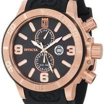 Invicta 13689 Jason Taylor 18k Rose Gold Plated Ss Black Mother-of-Pearl Watch Photo