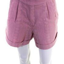 Iorane Womens Eyelet Embroidered Shorts Blush Pink Size Extra Large Photo