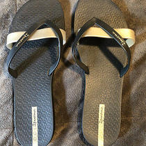 Ipanema Gold Black Flip Flop Sandals - Women's Size 10 Photo