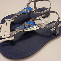Ipanema Womens Sandals Mosaic Blue Silver Size 8 Photo