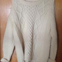 Irish Cable Knit Lambs Wool Sweater Photo