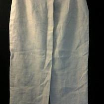 Irish Linen Talbots Beige Hidden Button Front Pencil Skirt Womens Size 4 Petite Photo