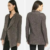 Iro 640 Campbell Fuzzy Mohair Boucle Knit Wool Cardigan Sweater Coat Sz 38/sm Photo