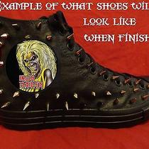Iron Maiden Metal Punk Custom Studded Converse Chuck Shirt Sneakers Shoes Spikes Photo