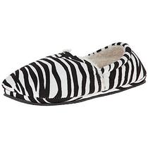 Isaac Mizrahi 9842 Womens Stassi B/w Faux Fur Zebra Print Mule Slippers 6/7 Bhfo Photo