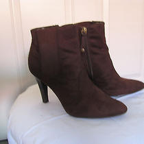 Isaac Mizrahi Brown Samantha Micro Suede Ankle Women Boots  Size 8 (Us) Photo