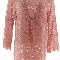 Isaac Mizrahi Cascade Open Front Lace Cardigan Bridal Blush Xl New A353154 Photo