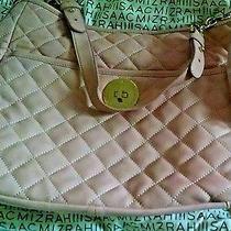 Isaac Mizrahi Live Bridgehampton Quilted Lamb Leather Purse Bag Blush Pink Nwot Photo