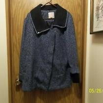 Isaac Mizrahi Live Ladies Soho Zip Front Coat Size 8 Photo