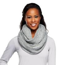 Isaac Mizrahi Live Multi-Textured Eternity Scarf A211196 Lt Heather Grey Photo