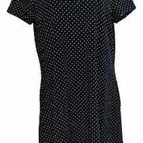 Isaac Mizrahi Live Petite Dress Pl Polka Dot Print W/ Pockets Blue A379122 Photo