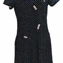 Isaac Mizrahi Live Petite Dress Ps Printed Knit Blue A379122 Photo