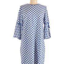 Isaac Mizrahi Live Women Blue Casual Dress M Photo