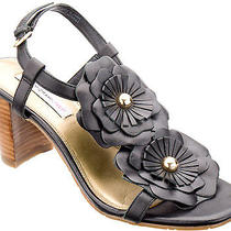 Isaac Mizrahi Live Women Shoes Fiona Sandal 8 Black New in Box  Photo