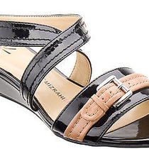 Isaac Mizrahi Live Women Shoes Malva Wedge Sandal 6 Black New in Box  Photo