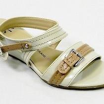 Isaac Mizrahi Live Women Shoes Malva Wedge Sandal 6 Taupe  New in Box Photo