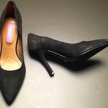 Isaac Mizrahi Loretta Black Suede Pointy Toe Classic Pumps Heels Size 6.5 M Euc Photo