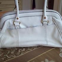 Isaac Mizrahi Off-White Satchel Handbag Purse  Photo