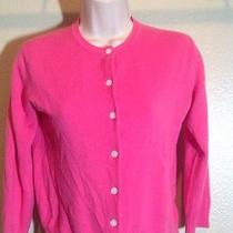 Isaac Mizrahi Small Cardigan Sweater Excellent Condition Pink Acrylic Photo