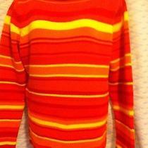 Isaac Mizrahi Sz L Sweater Colorful Hot Bright Colors Vgc  Photo