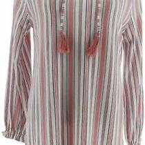 Isaac Mizrahi True Denim Stripes Knit Tunic Carnation Bloom S New A350379 Photo