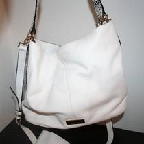 Isaac Mizrahi White Pebbled Leather Hobo Shoulder Handbag Purse Wristlet Snake Photo