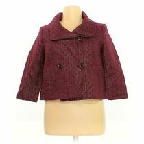 Isaac Mizrahi Women's Blazer Size 16  Maroon  Polyester Cotton Metallic Photo