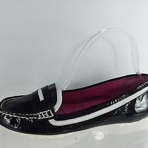Isaac Mizrahi Womens Black Leather Flats 6 Photo