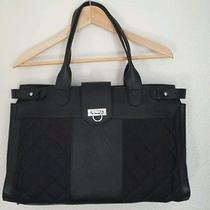 Isabel Grayson Black Addison Quilted Diaper Bag W/changing Mat Photo