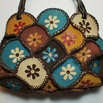 Isabella Fiore 3d Flower Power Quilted Leather Patch Handbag Purse Tote 265 Photo