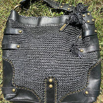 Isabella Fiore Crocheted Belted Studded Big & Beautiful Xlg. Hobo Shoulder Bag Photo