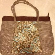 Isabella's Journey Brown/aqua Paisley Tote Photo