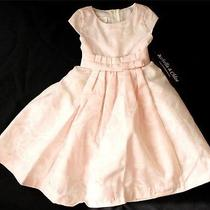 Isobella & Chloe Pink Taffeta Bow Tulle Dress Sz 4t Photo