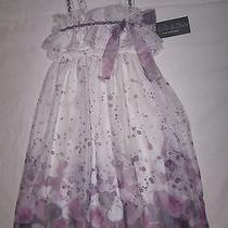 Isobella & Chloe Purple & White Dress Size 12 Boutique Photo